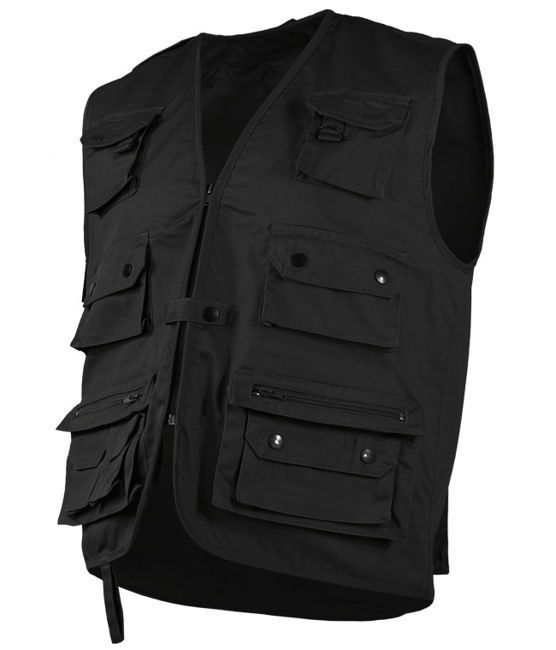 Black HUNTING AND FISHING VEST