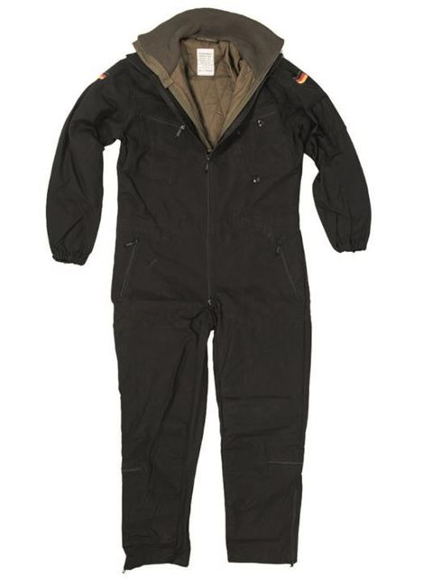GERMAN BLACK TANKER COVERALL WITH OD LINER