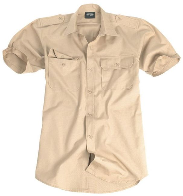 KHAKI Short SLEEVE TROPICAL SHIRT