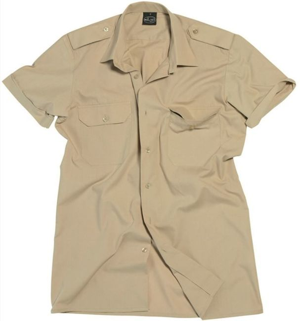 Khaki Short SLEEVE SERVICE SHIRT