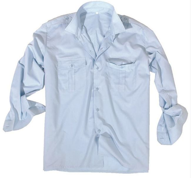 Light Blue LONG SLEEVE SERVICE SHIRT
