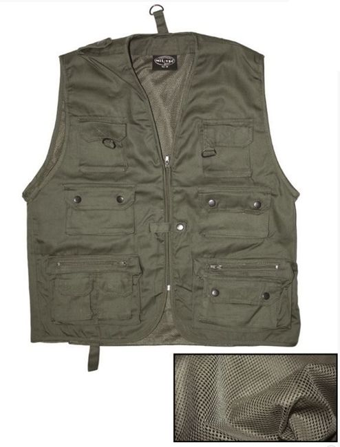 OD HUNTING A.FISHING VEST W.MESH LINING