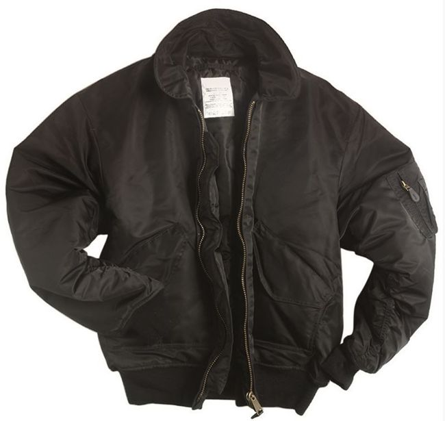 US Black BASIC CWU FLIGHT JACKET
