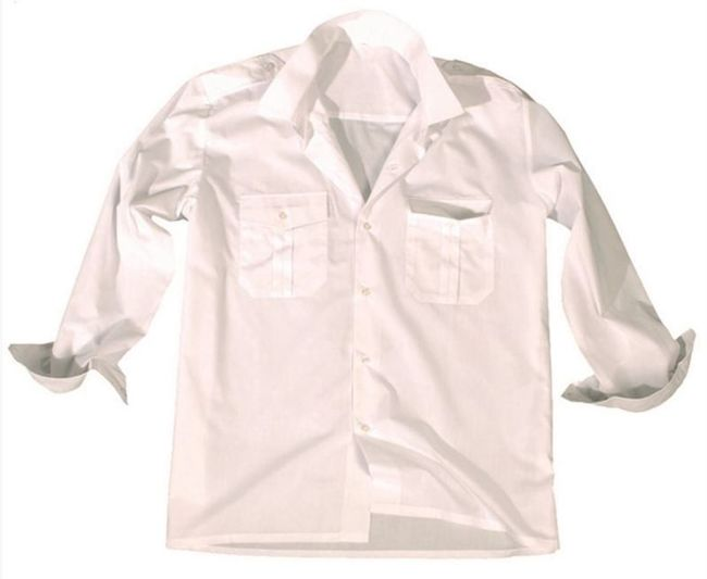 White LONG SLEEVE SERVICE SHIRT
